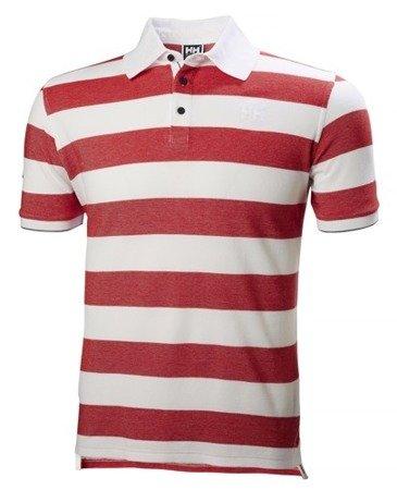 Polo HELLY HANSEN MARSTRAND 53022 biało czerwone